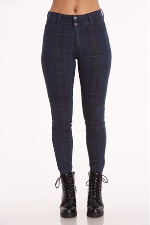 Nature Plaid Jeans NAVY