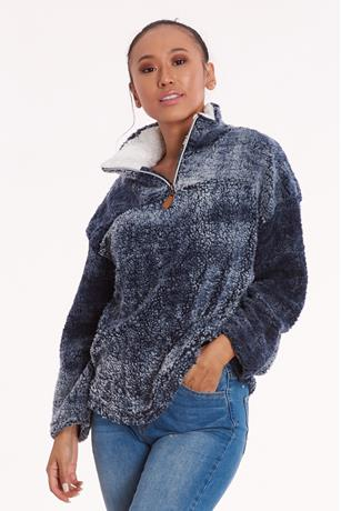 Sherpa Half-Zip Pullover NAVY