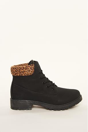 Faux Nubuck Boots