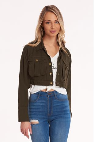 Cropped Jacket OLIVE