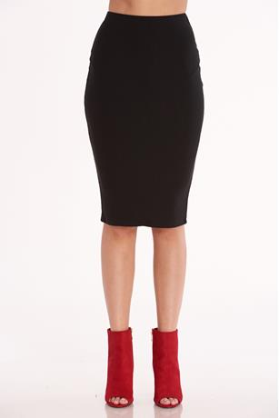 High Waist Pencil Skirt BLACK