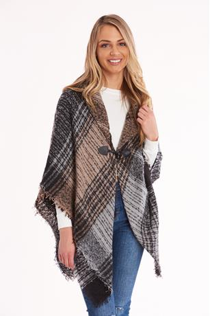 Plaid Toggle Cape