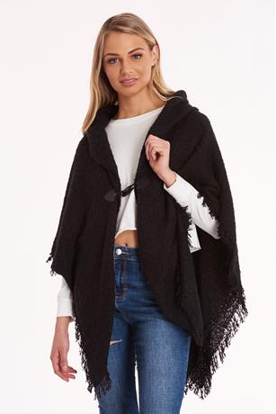 Toggle Cape  BLACK