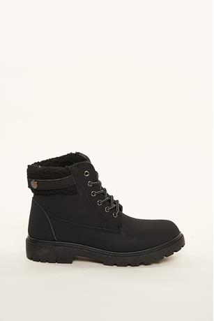 Sherpa Trim Boots BLACK