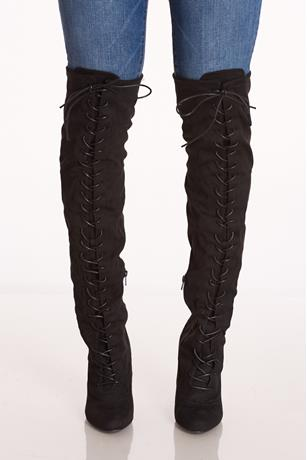 Tie Up Otk Boots BLACK