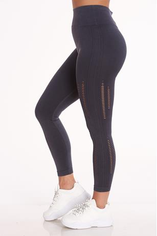 Active Side Fishnet Trim Leggings