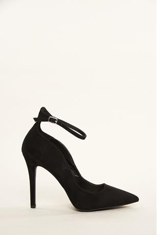 Ankle Wrap Heels BLACK