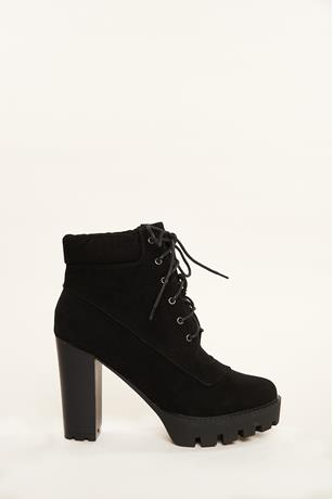 Lace Up Booties BLACK