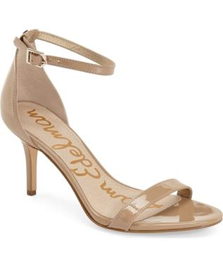 PATTI-OPEN TOE ANKLE STRAP NUDE PATENT