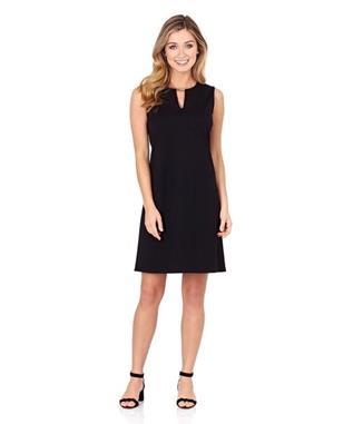 NADINE PONTE SHIFT DRESS BLACK FRESH FLORAL-BFL