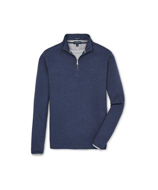 COLLECTION CHARLTON LONG SLEEVE CASHMERE QUARTER ZIP SWEATER BARCHETTA BLUE