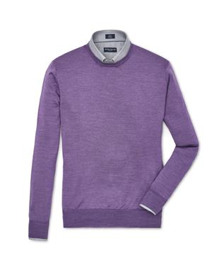 COLLECTION MERINO SILK CREW SWEATER  UVA