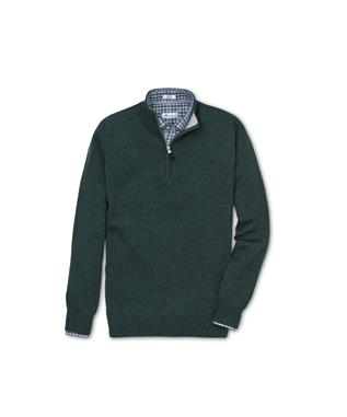 CROWN COMFORT CASHMERE QUARTER ZIP WOODLAND