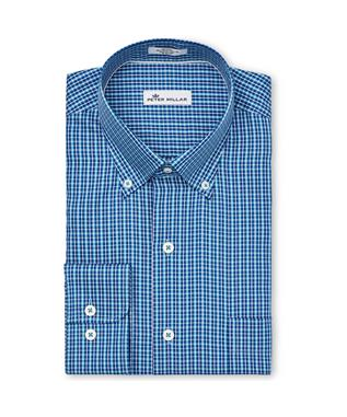 CROWN SOFT TOWNLANDS MULTI-CHECK SPORT SHIRT YANKEE BLUE