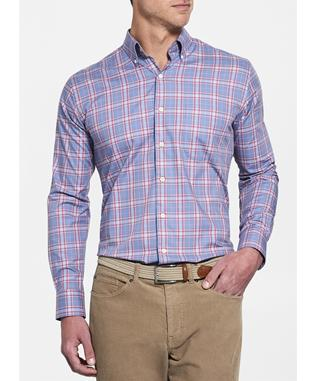 CROWN EASE ARCHIPELAGO PLAID SPORT SHIRT INFINITY