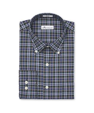 ACADIA TARTAN BUTTON-DOWN SHIRT ATLANTIC B