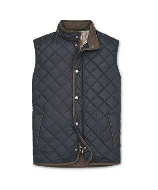 CROWN ESSEX QUILTED VEST  BLACK