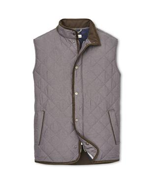 CROWN ESSEX QUILTED VEST SMOKE