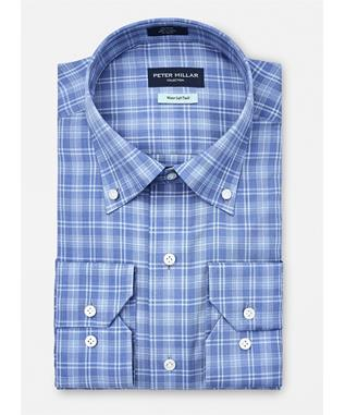COLLECTION NORSE SKY CHECK SPORT SHIRT AZURITE