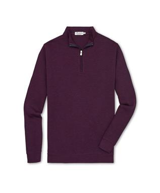 CROWN COMFORT INTERLOCK QUARTER ZIP SWEATER WINTERBERR