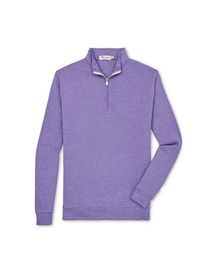 CROWN COMFORT INTERLOCK QUARTER ZIP SWEATER AURORA