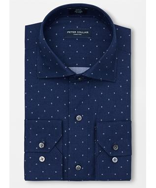 COLLECTION NORSE PRINT SPORT SHIRT  STARLIGHT BLUE