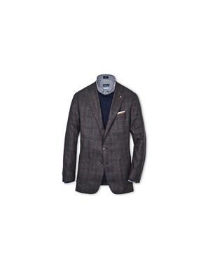COLLECTION HAWICK PLAID SOFT JACKET ESPRESSO