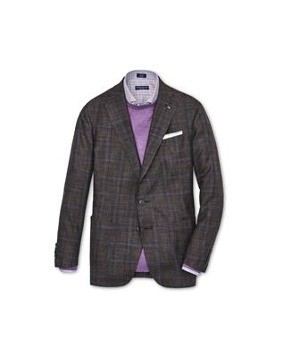 COLLECTION ARE PLAID SOFT JACKET ESPRESSO