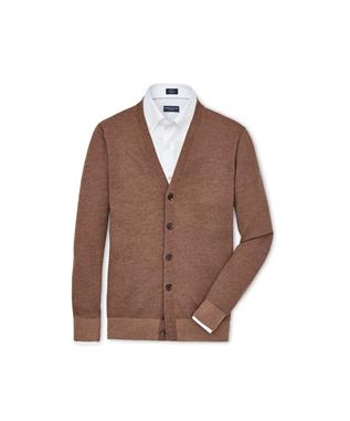 COLLECTION ENGLISH MANOR CLASSIC CARDIGAN VICUNA