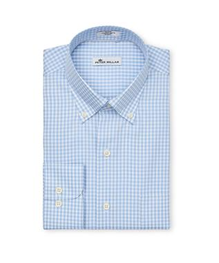 Crown Soft Gingham SPORT SHIRT COTTAGE BL