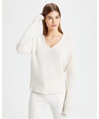 RELAXED V NECK PULLOVER SWEATER 107-IV