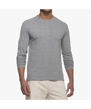 MATTY LONG SLEEVE T-SHIRT LIGHT GRAY