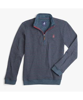 BOYS STRIPED 1/4 ZIP PULLOVER TWILIGHT