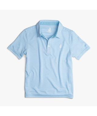 BOYS STRIPED SHORT SLEEVE PREP FORMANCE POLO CAYMAN
