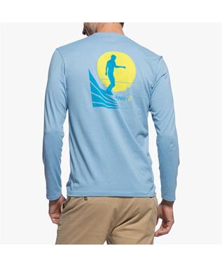 NOSE RIDE LONG SLEEVE T-SHIRT GULF BLUE