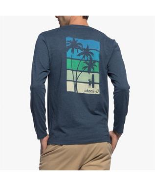 PALMS STRIPES LONG SLEEVE T-SHIRT TWILIGHT