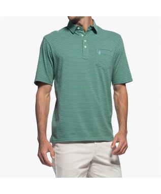 MACON STRIPPED 4 BUTTON POLO CYPRESS