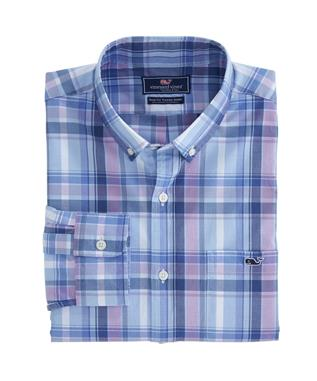 BOATHOUSE PLAID SLIM TUCKER SHIRT MOONSHINE