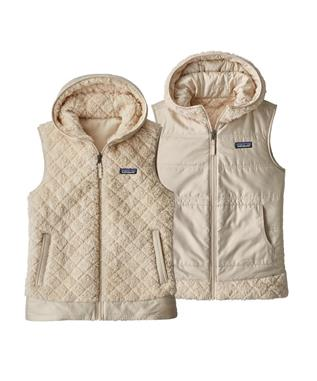 LOS GATOS HOODED FLEECE VEST CALCIUM