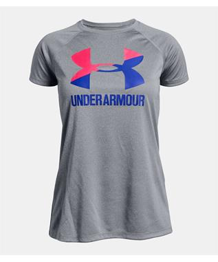 GIRLS UA BIG LOGO SOLID 035 Steel Light Heat