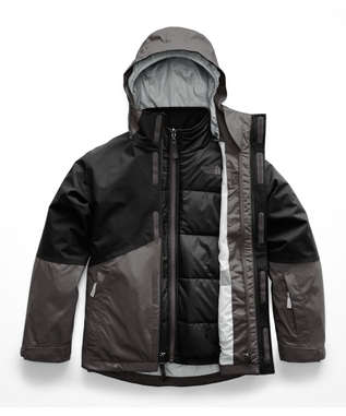BOYS BOUNDARY TRICLIMATE JACKET 044-GRAPHITE GREY