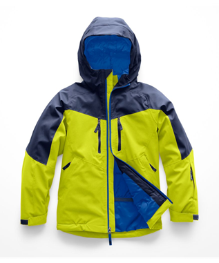 BOYS CHAKAI INSULATED JACKET 6X0-LIME GREEN