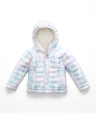 TODDLER GIRLS REVERSIBLE MOSSBUD JACKET 5MP-PURDY PINK