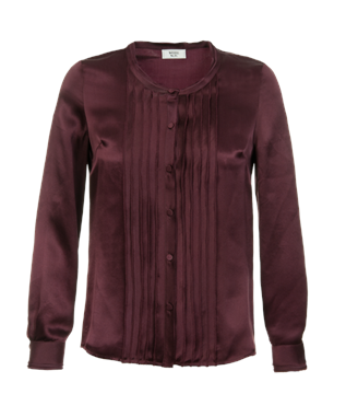 MINCY LONG SLEEVE BLOUSE BORDEAUX-7597C