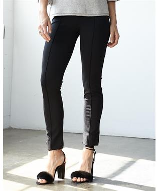 PONTE PINTUCKED LEGGING PANT BLACK