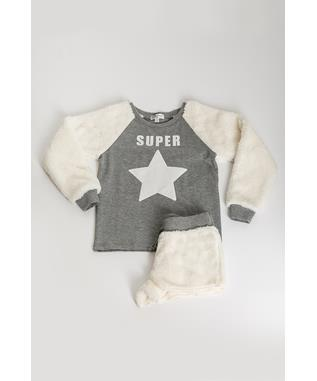 TODDLER GIRLS PLAYFUL PLUSH SUPER STAR SET  NATURAL