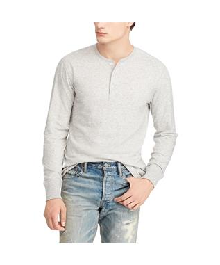 LONG SLEEVE HENLEY SHIRT METRO/AMER