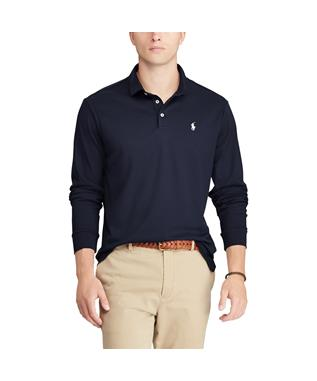 LONG SLEEVE SOFT TOUCH POLO NAVY