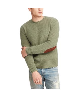 WASHED CREW NECK SWEATER GREY HTR