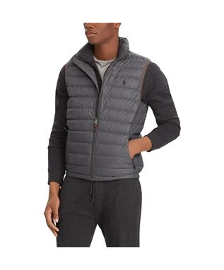 BLEEKER DOWN VEST GREY HTR